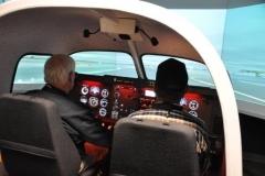 Flying the Rex simulator